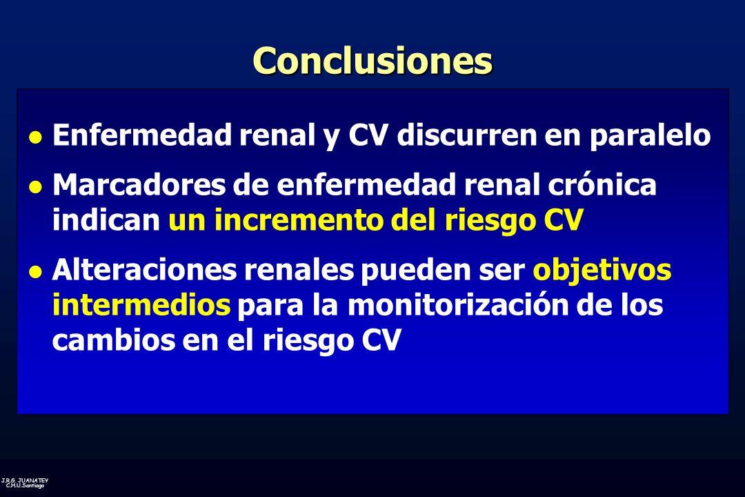 Conclusiones Enfermedad renal y CV discurren en paralelo