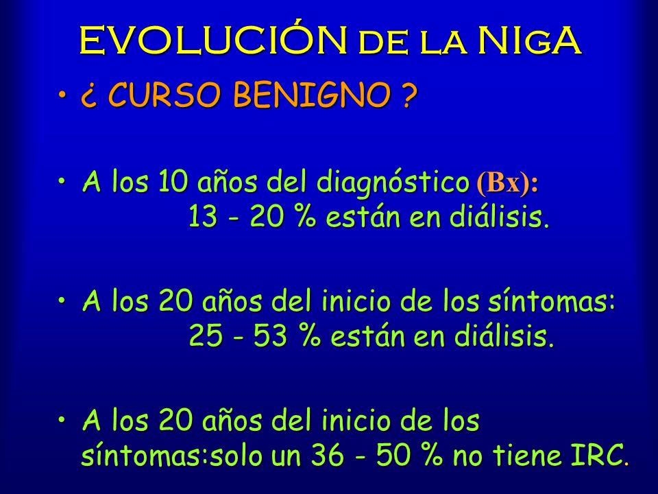 EVOLUCIÓN de la NIgA ¿ CURSO BENIGNO