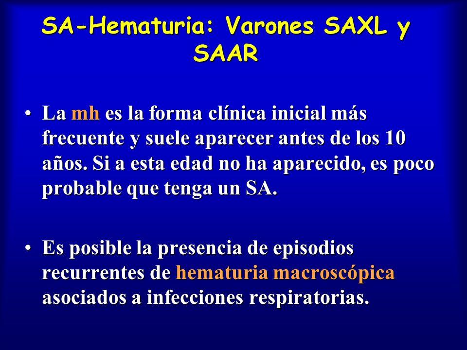 SA-Hematuria: Varones SAXL y SAAR
