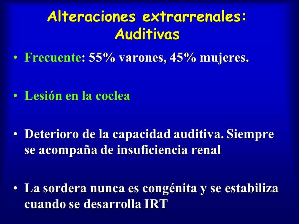 Alteraciones extrarrenales: Auditivas
