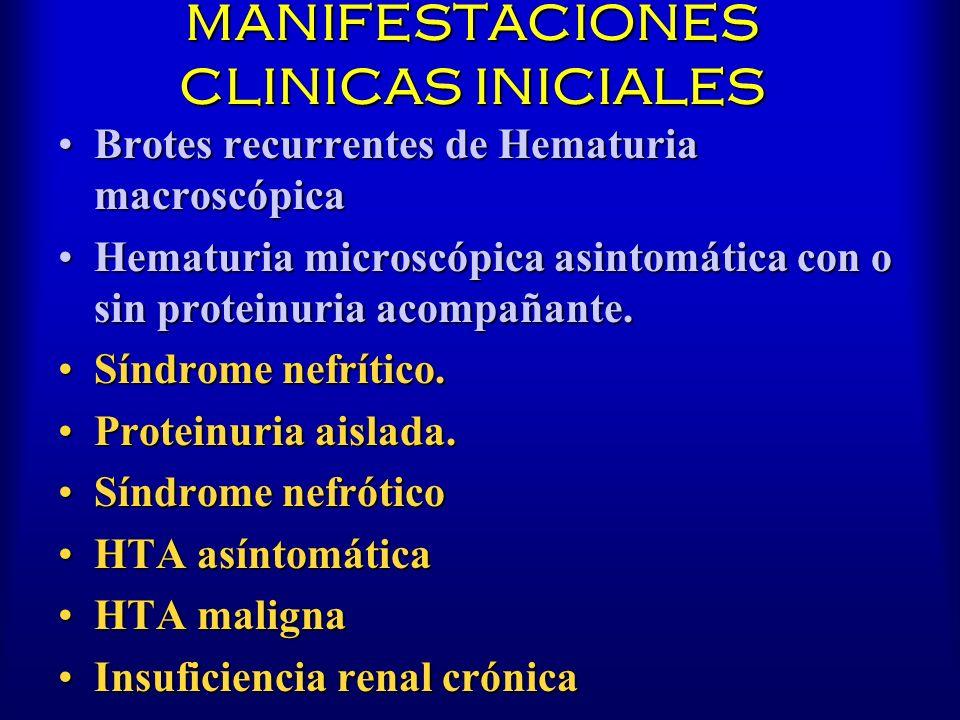 MANIFESTACIONES CLINICAS INICIALES