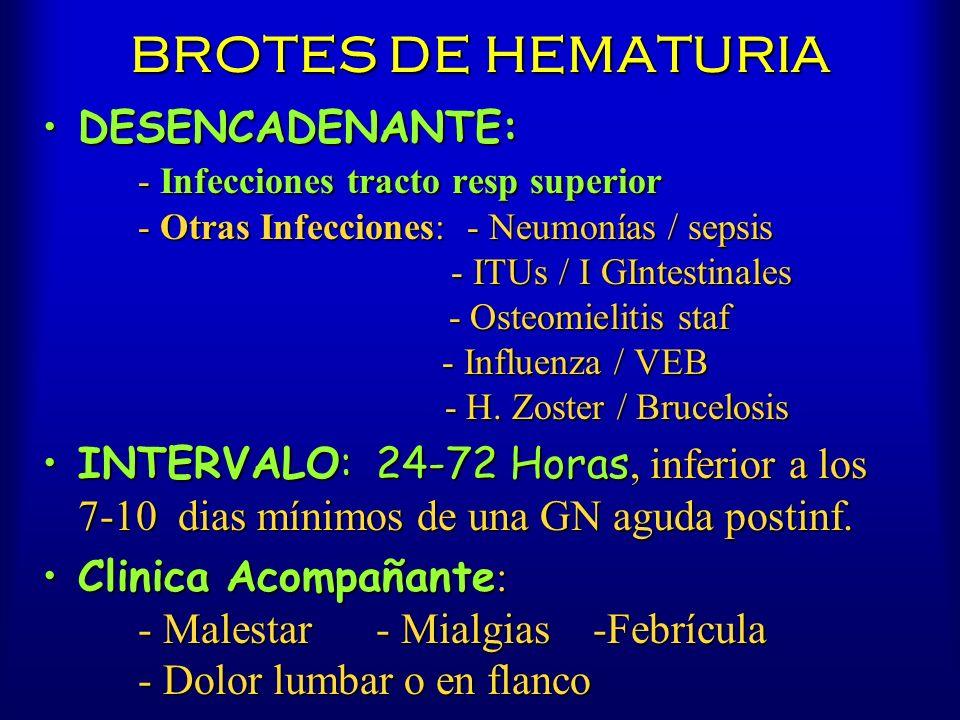 BROTES DE HEMATURIA