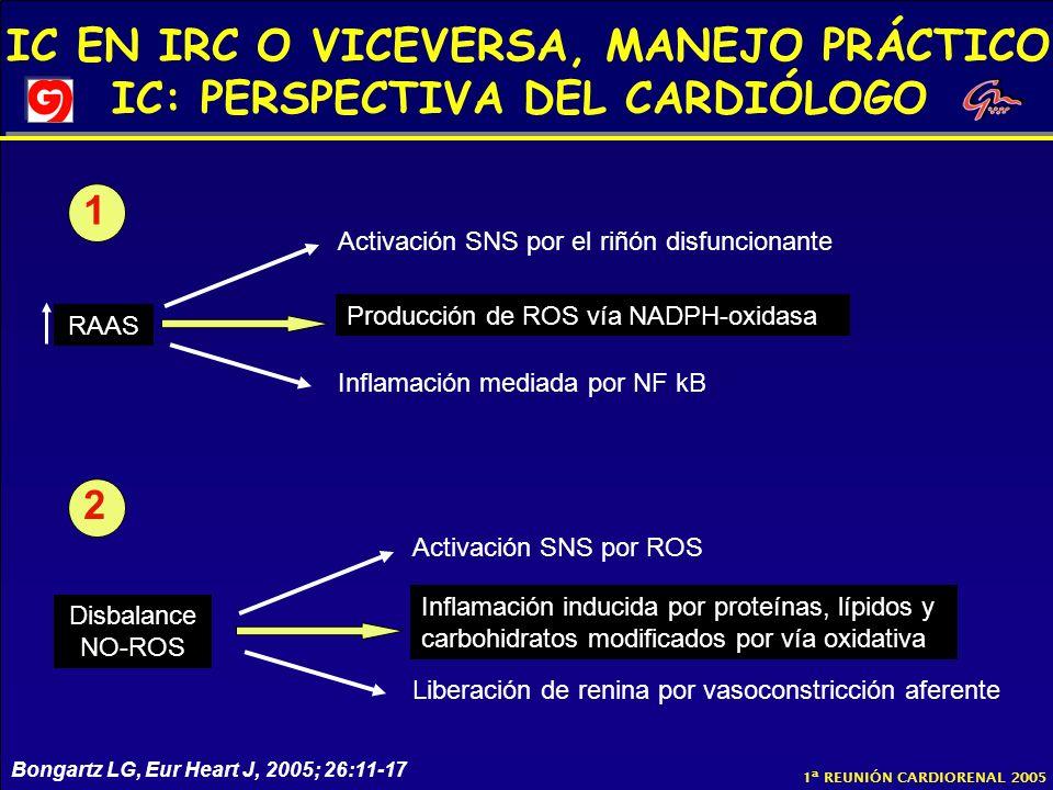 1 2 Activación SNS por el riñón disfuncionante