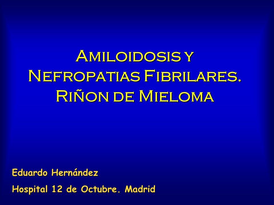 Amiloidosis y Nefropatias Fibrilares. Riñon de Mieloma