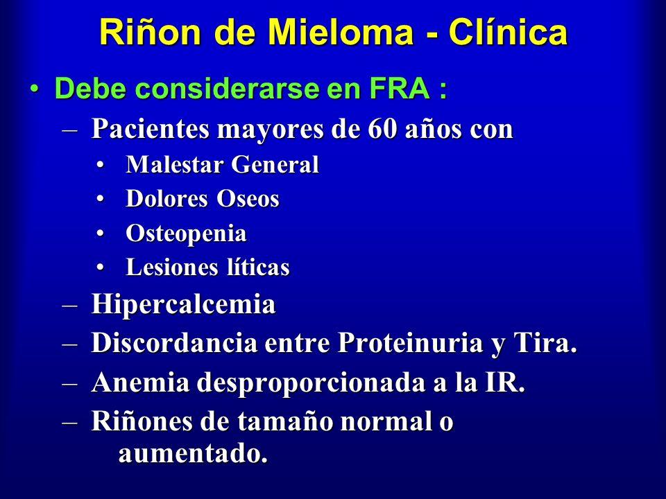 Riñon de Mieloma - Clínica