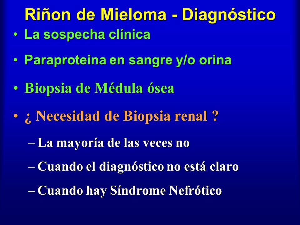 Riñon de Mieloma - Diagnóstico