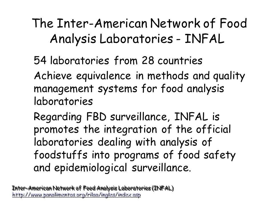 The Inter-American Network of Food Analysis Laboratories - INFAL