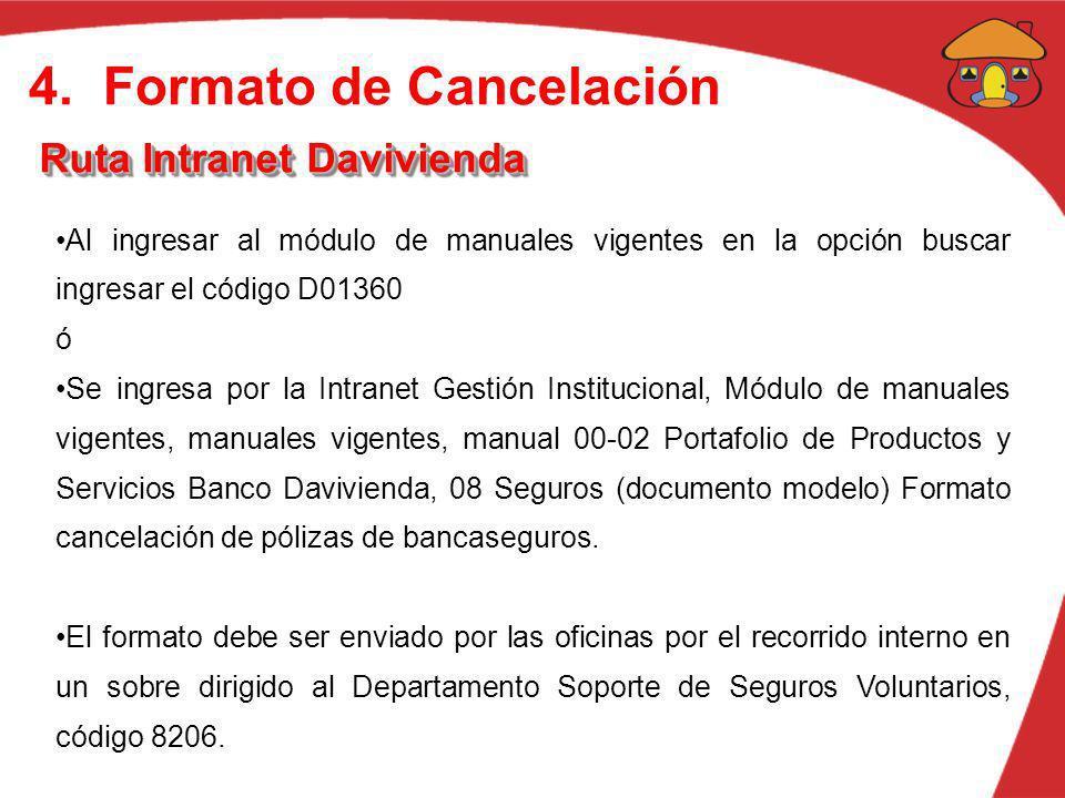4. Formato de Cancelación