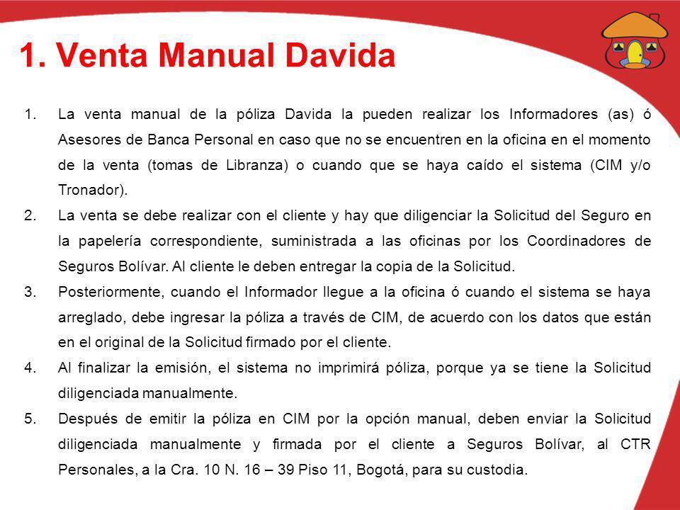 1. Venta Manual Davida