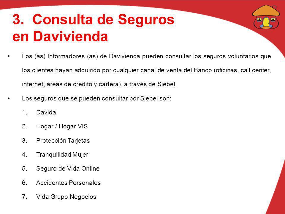 3. Consulta de Seguros en Davivienda