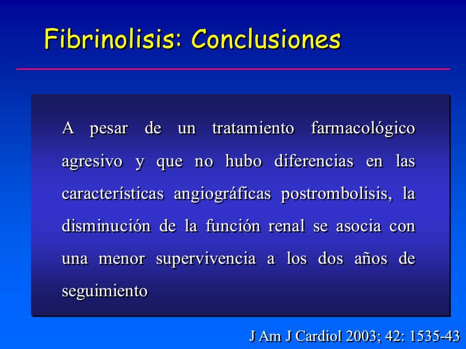 Fibrinolisis: Conclusiones