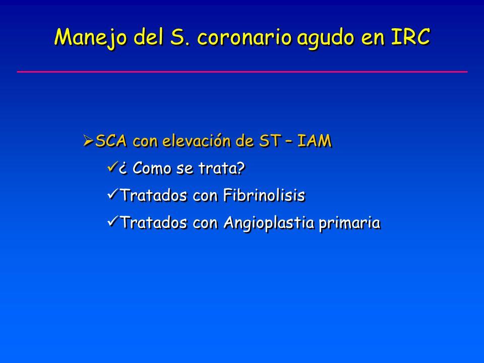 Manejo del S. coronario agudo en IRC