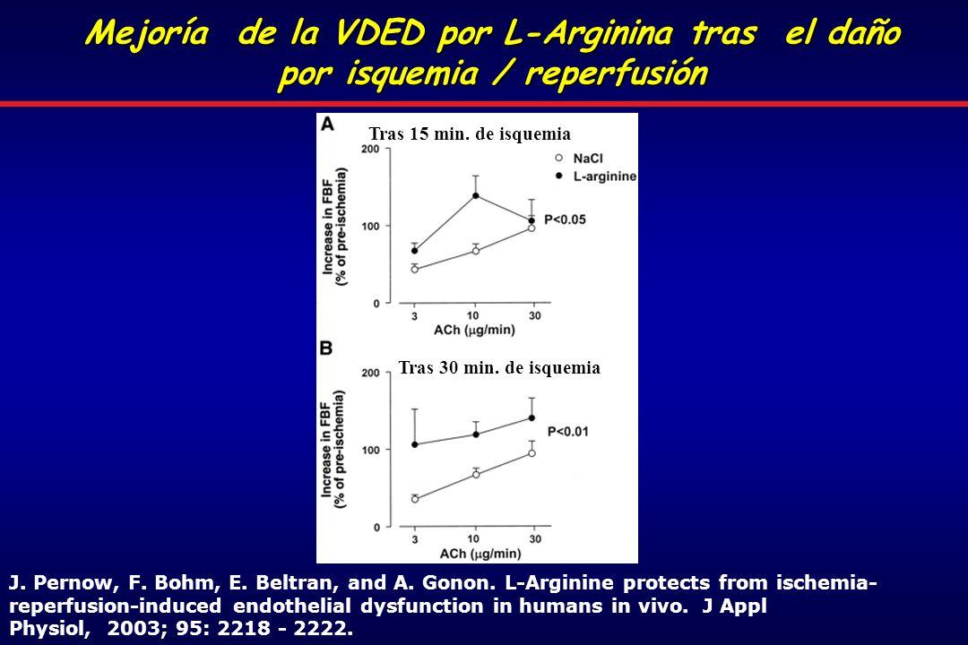 Mejoría de la VDED por L-Arginina tras el daño por isquemia / reperfusión