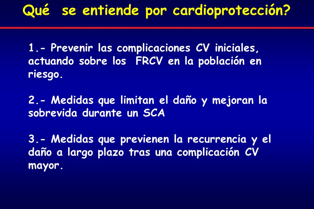 Qué se entiende por cardioprotección