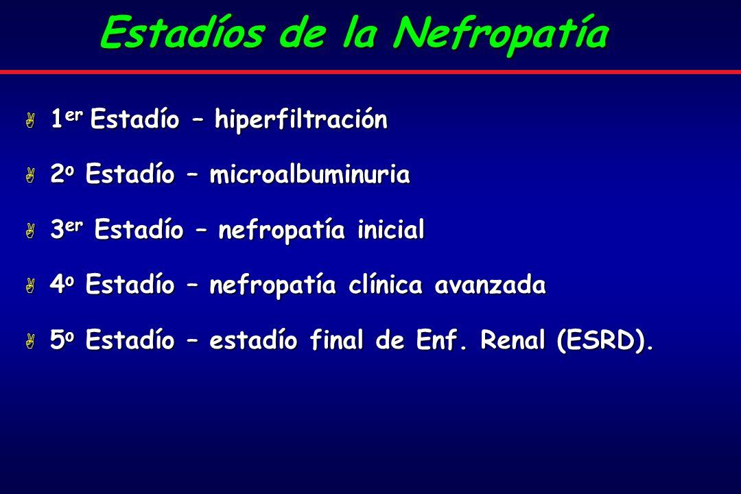 Estadíos de la Nefropatía