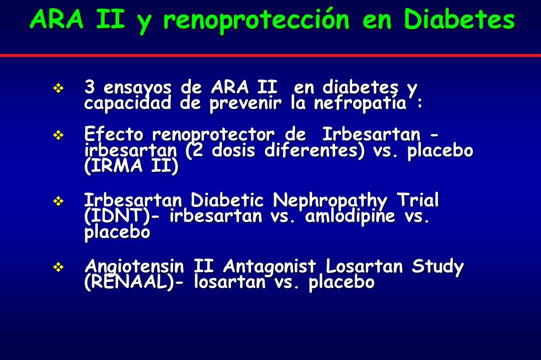 ARA II y renoprotección en Diabetes