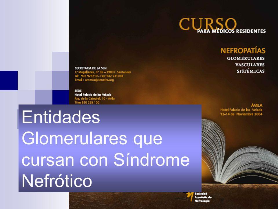 Entidades Glomerulares que cursan con Síndrome Nefrótico