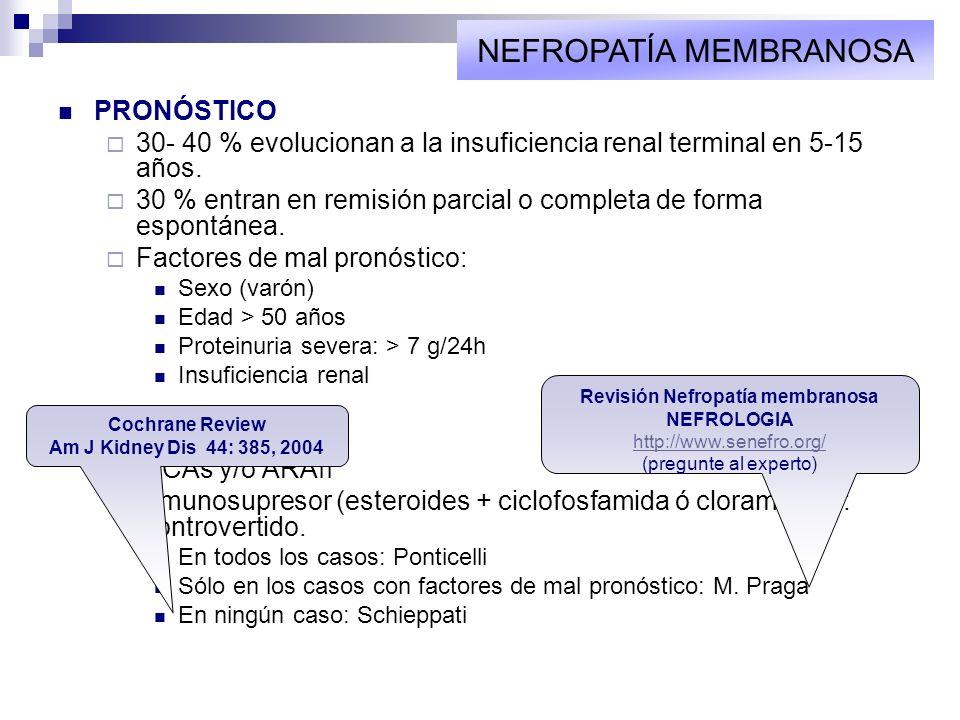 Revisión Nefropatía membranosa