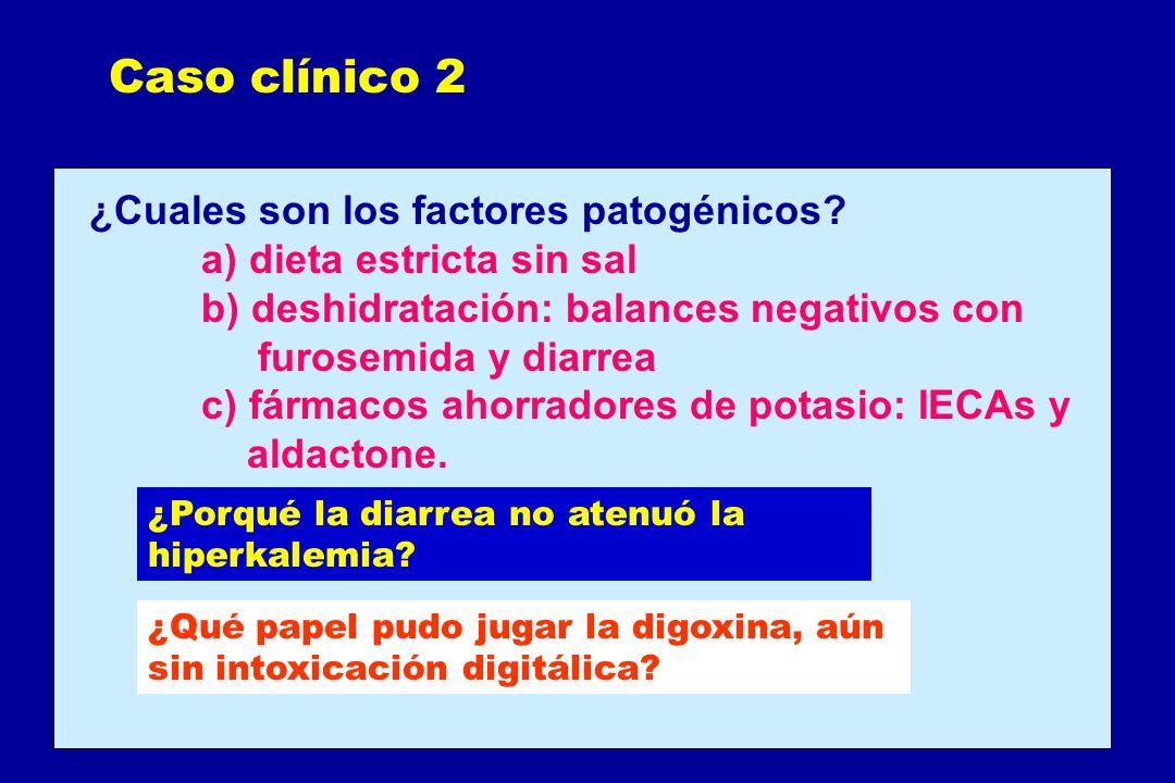 Caso clínico 2 ¿Cuales son los factores patogénicos