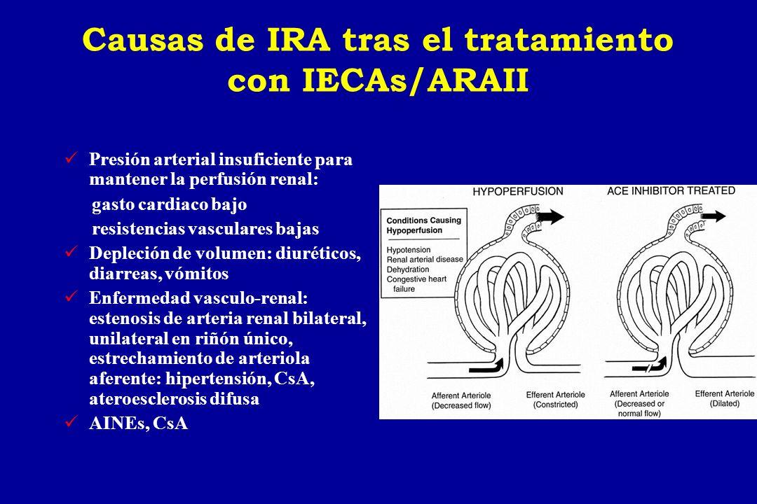 Causas de IRA tras el tratamiento con IECAs/ARAII