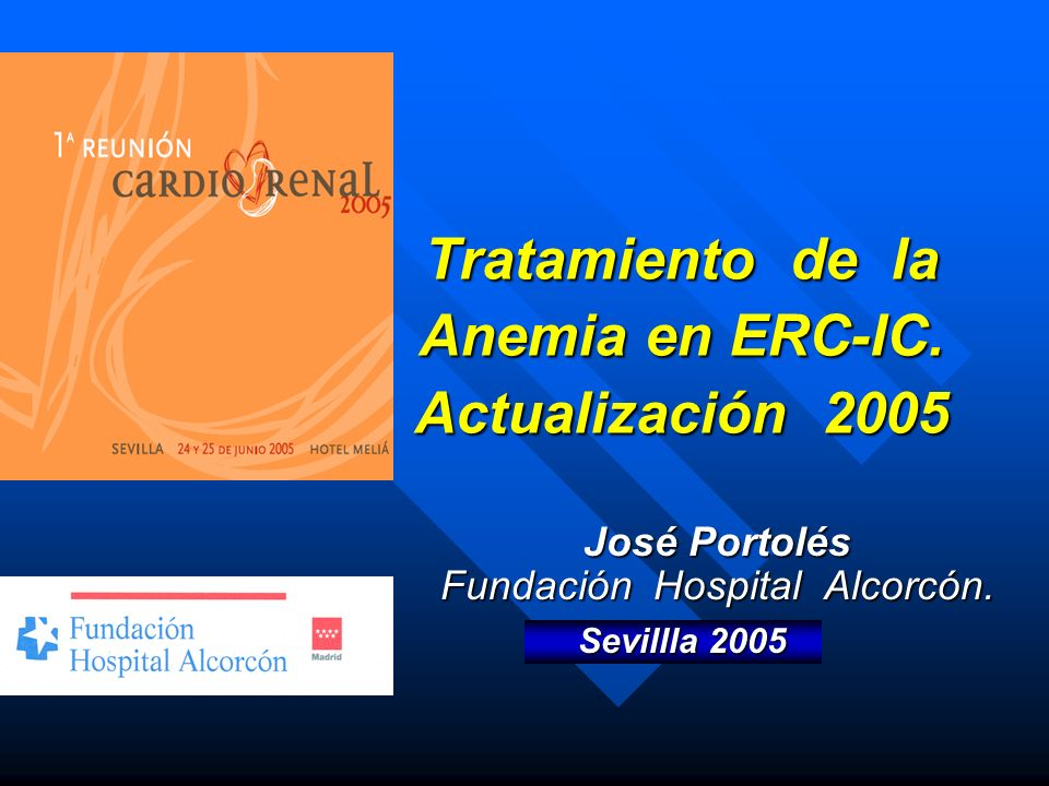 Tratamiento de la Anemia en ERC-IC. Actualización 2005