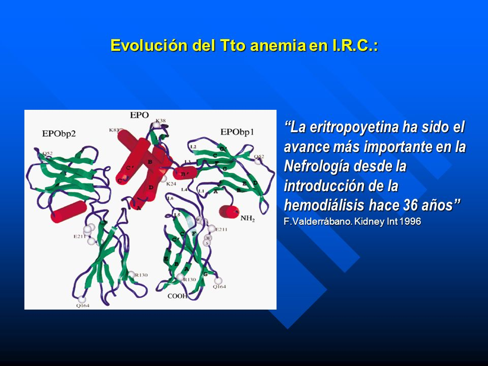 Evolución del Tto anemia en I.R.C.: