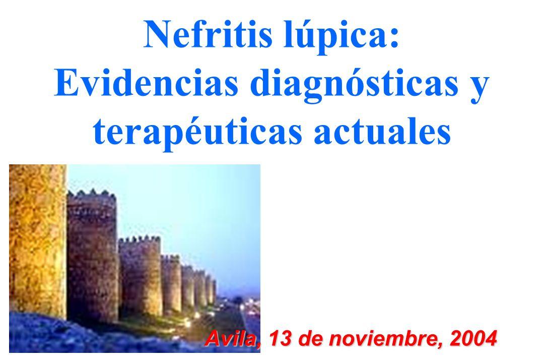 Nefritis lúpica: Evidencias diagnósticas y terapéuticas actuales