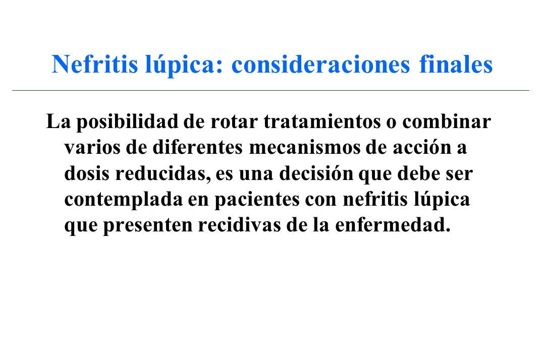 Nefritis lúpica: consideraciones finales