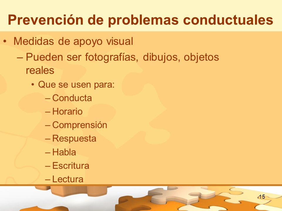Prevención de problemas conductuales