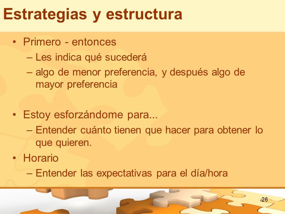 Estrategias y estructura