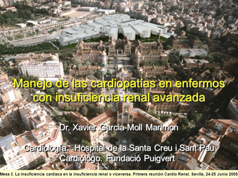 Manejo de las cardiopatías en enfermos con insuficiencia renal avanzada