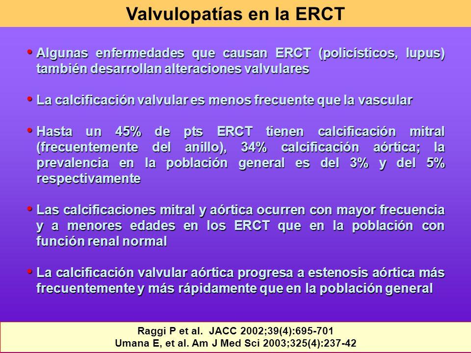 Valvulopatías en la ERCT