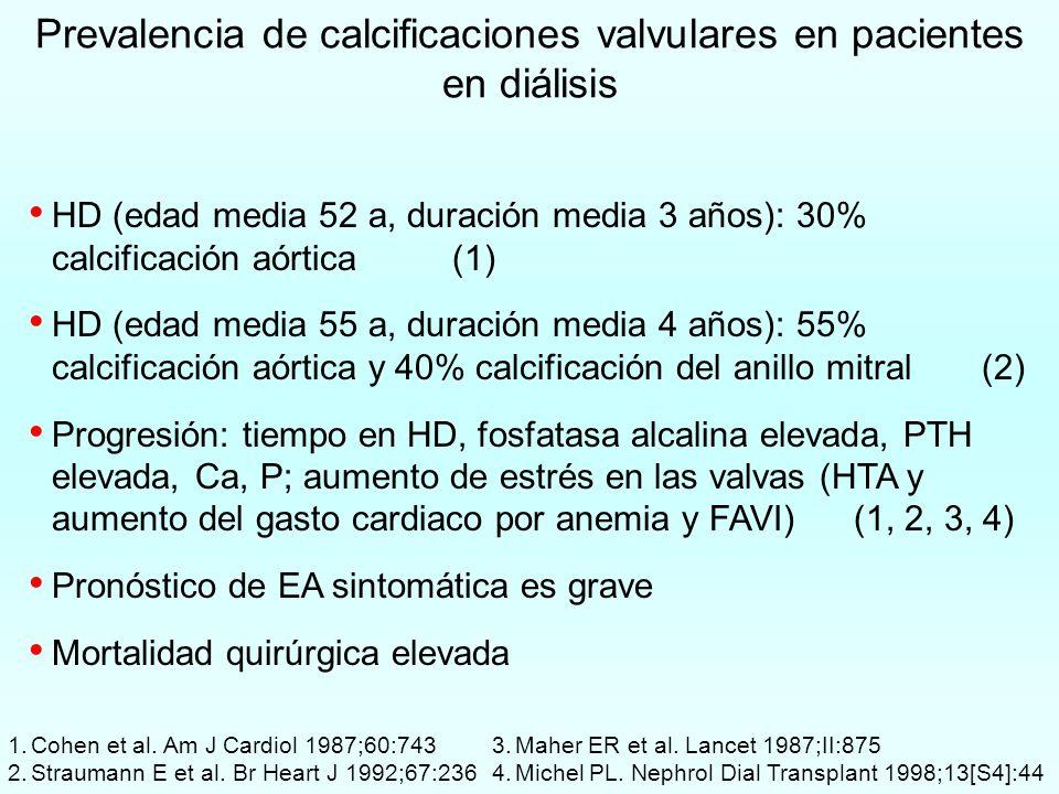 Prevalencia de calcificaciones valvulares en pacientes en diálisis