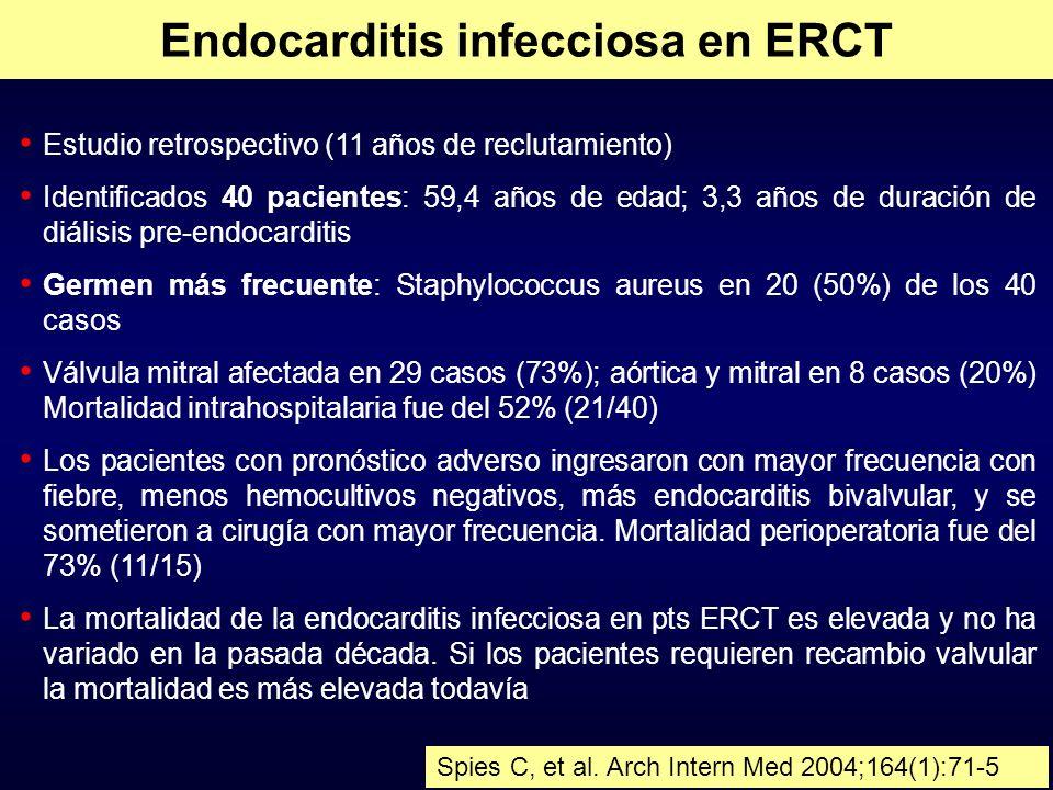 Endocarditis infecciosa en ERCT