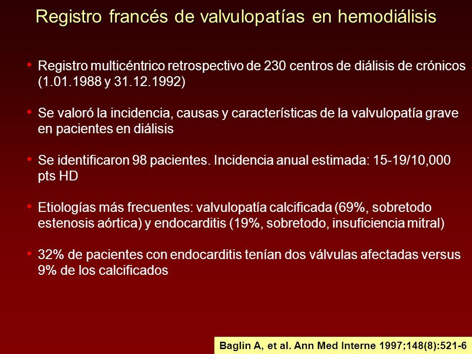 Registro francés de valvulopatías en hemodiálisis