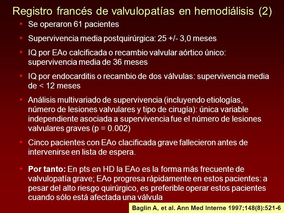 Registro francés de valvulopatías en hemodiálisis (2)