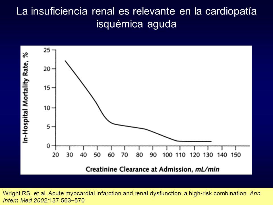 La insuficiencia renal es relevante en la cardiopatía isquémica aguda