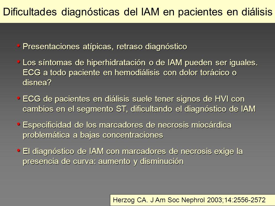 Dificultades diagnósticas del IAM en pacientes en diálisis