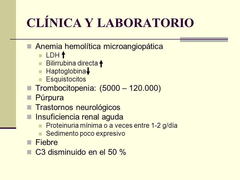 CLÍNICA Y LABORATORIO Anemia hemolítica microangiopática