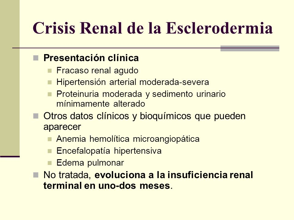 Crisis Renal de la Esclerodermia