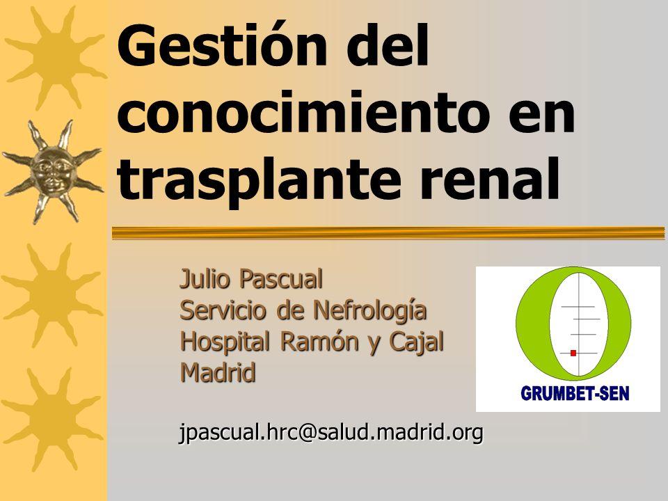 Gestión del conocimiento en trasplante renal