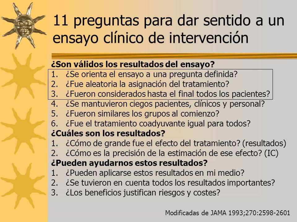 11 preguntas para dar sentido a un ensayo clínico de intervención
