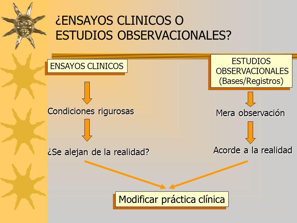 Modificar práctica clínica