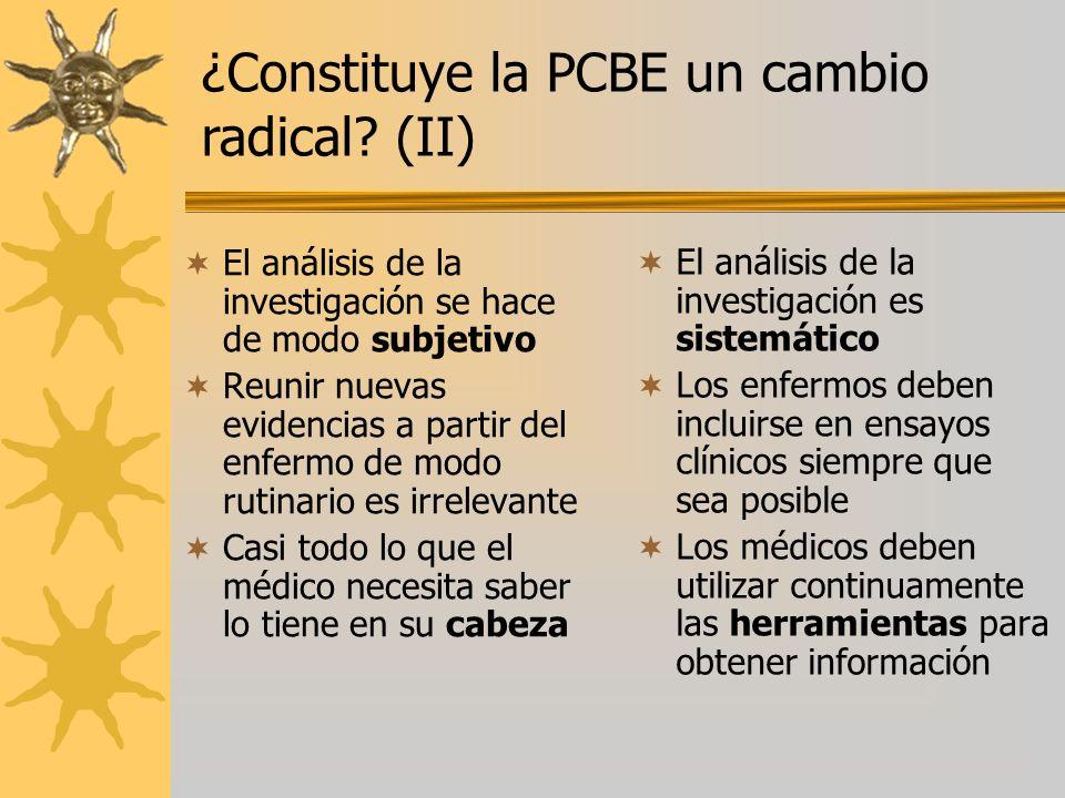 ¿Constituye la PCBE un cambio radical (II)
