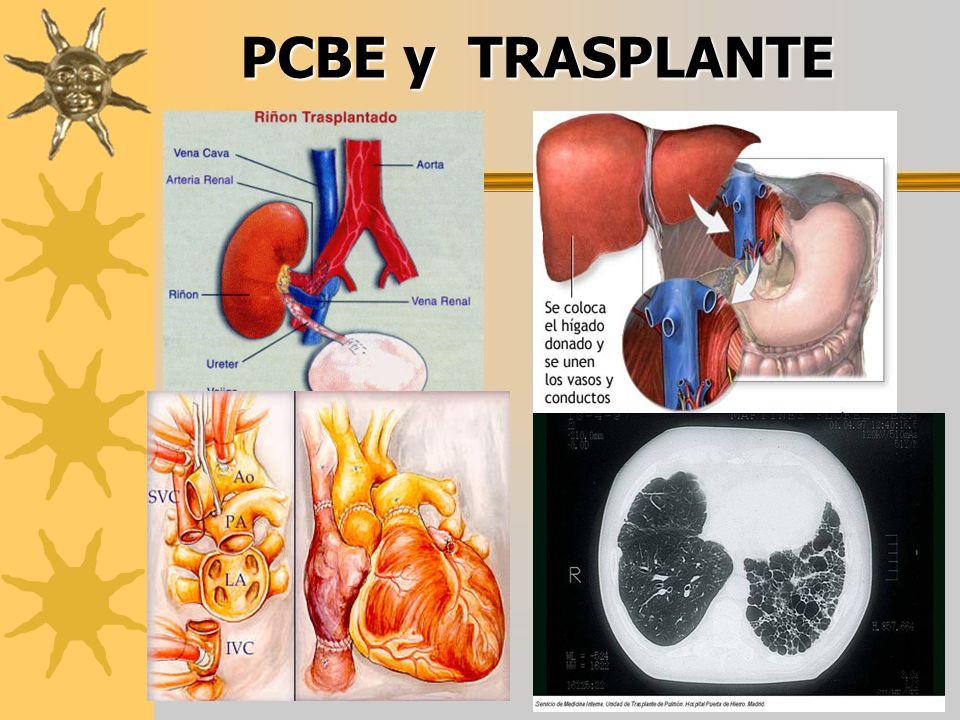 PCBE y TRASPLANTE