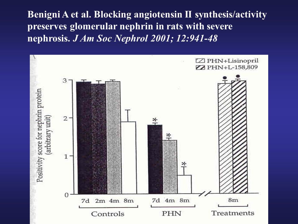Benigni A et al. Blocking angiotensin II synthesis/activity