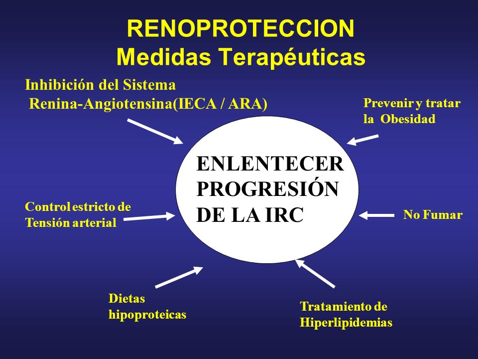 RENOPROTECCION Medidas Terapéuticas
