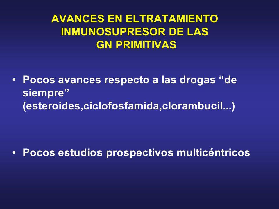 AVANCES EN ELTRATAMIENTO INMUNOSUPRESOR DE LAS GN PRIMITIVAS