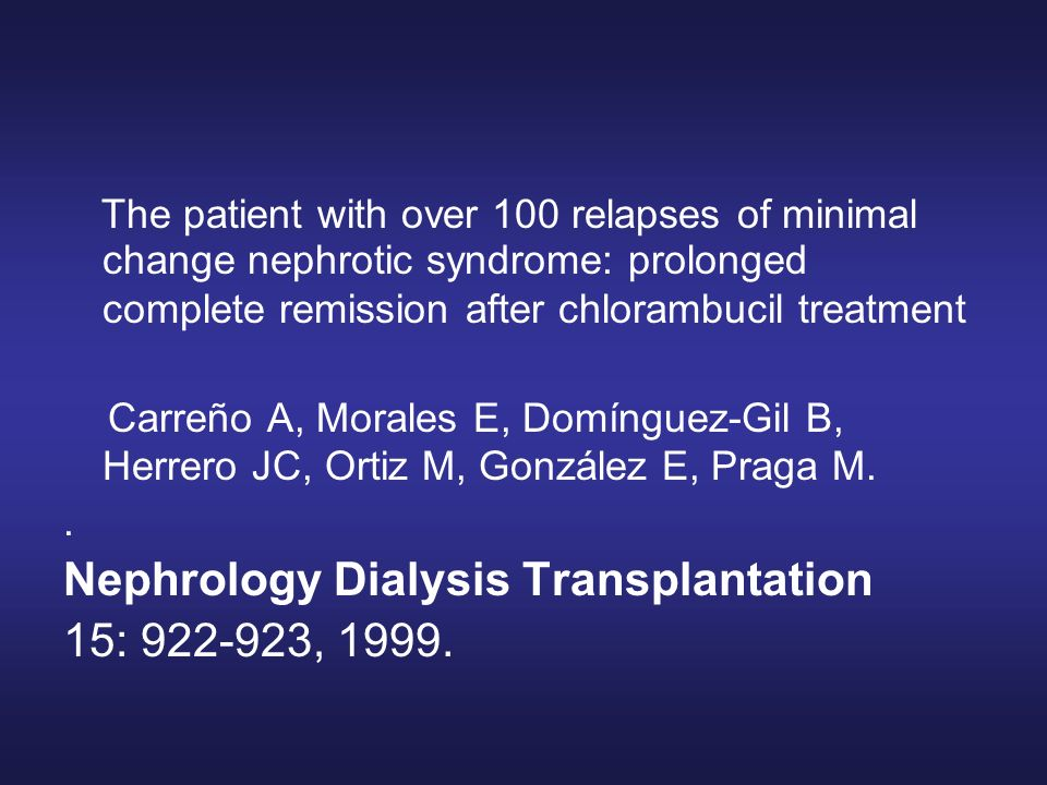 Nephrology Dialysis Transplantation 15: 922-923, 1999.