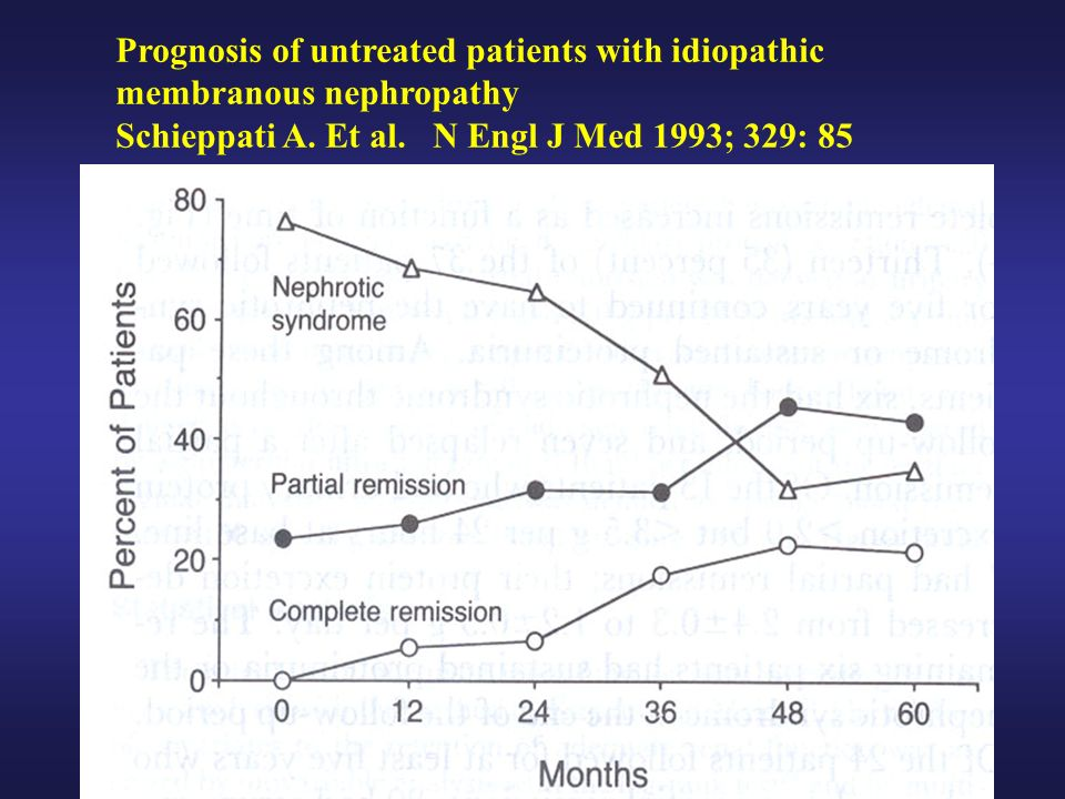 Prognosis of untreated patients with idiopathic membranous nephropathy Schieppati A.